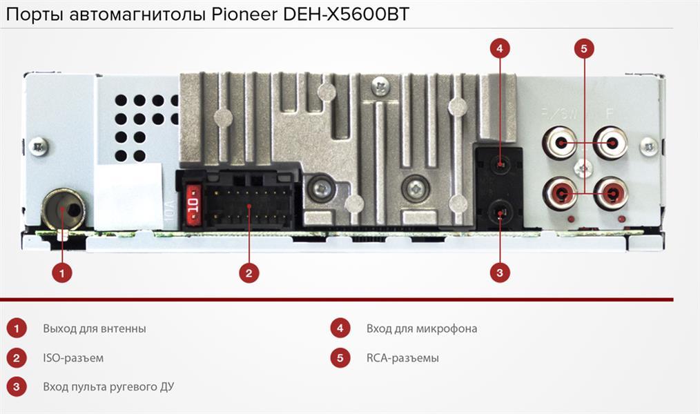 Схема пионер deh 1400ub