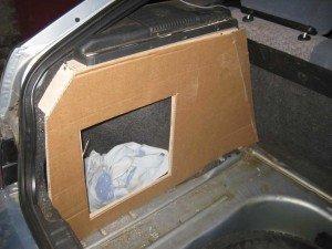 Багажник с акустическим эффектом
