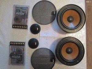 Установка компонентной акустики