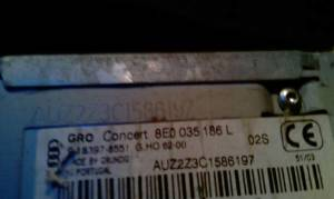 Идентификационный номер автомагнитолы ауди