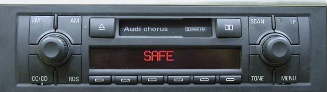 как вести код на штатной магнетоле audi a4 1996