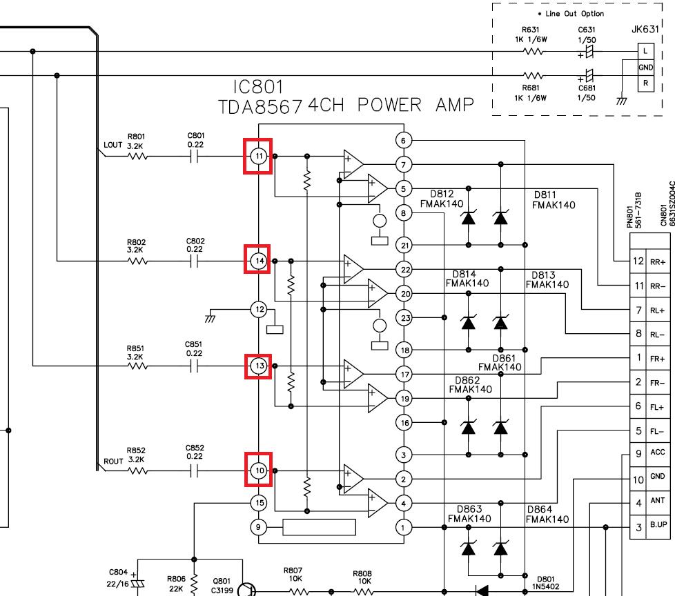 автомагнітола схема подключения