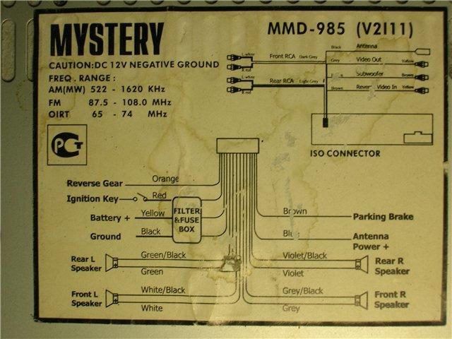 автомагнитол Mystery mdd