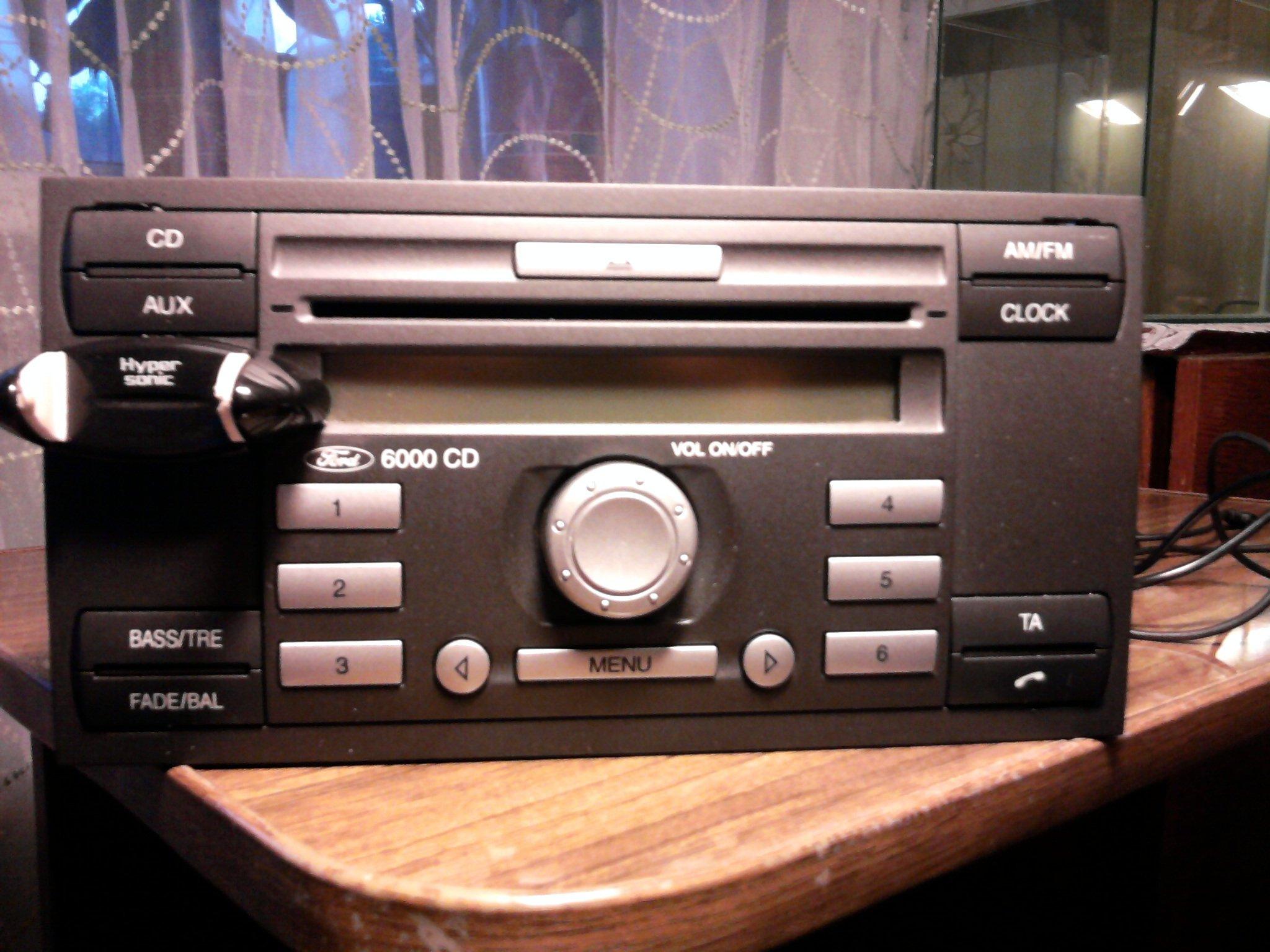 инструкция к магнитоле ford cd 6000