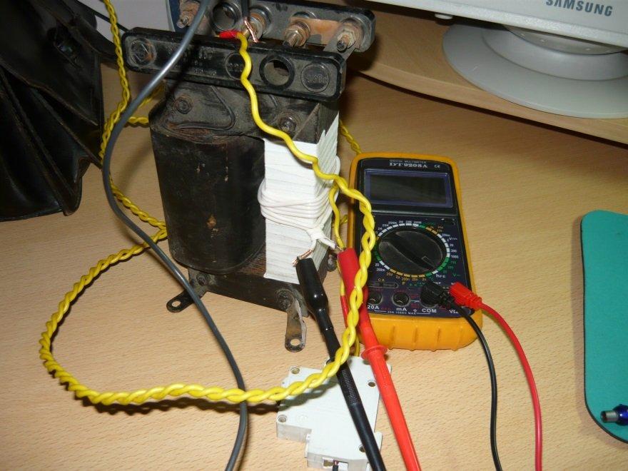 Снимаем показания с семи витков провода