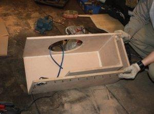 Как собрать коробку под сабвуфер