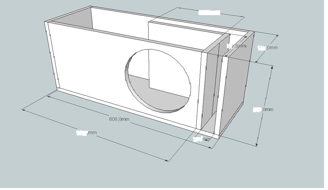 Как сделать короб под сабвуфер схема 61