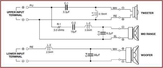 Кроссовер фильтр схема