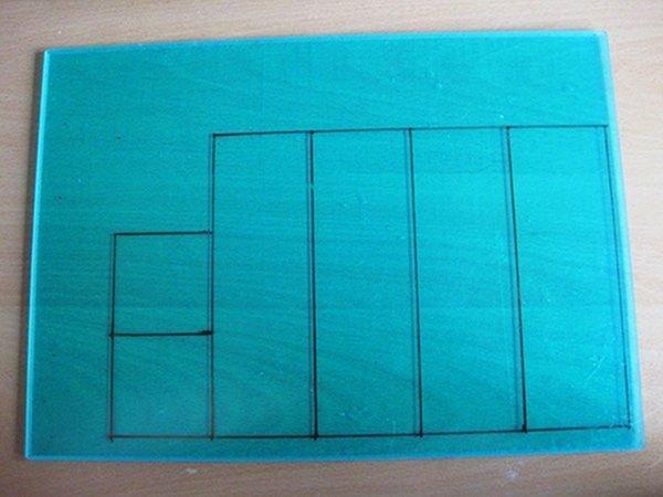 Схема пластинок из оргстекла