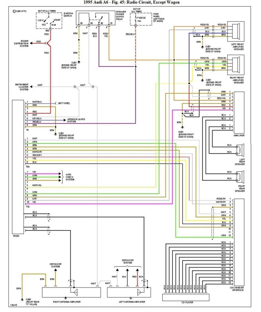 Автомагнитола для Ауди А6 и других моделей и схема подключения