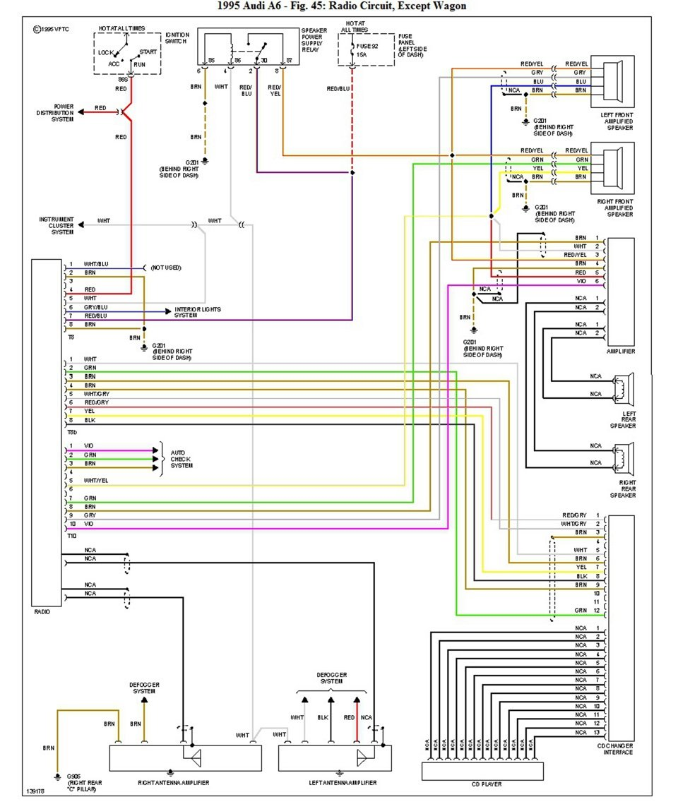 Схема подключение автомагнитолы в Audi рассмотрим подробно
