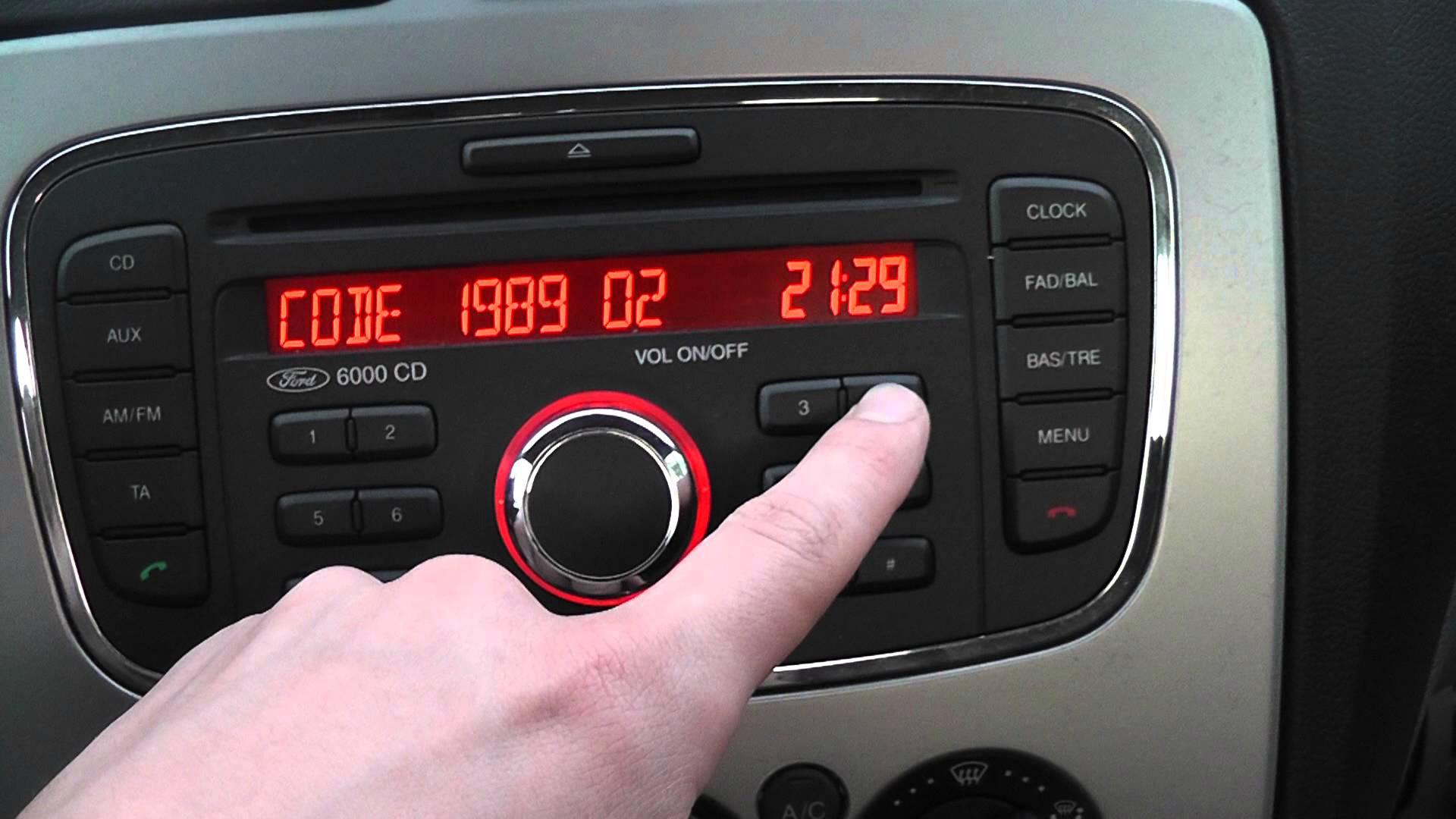 магнитола форд транзит штатные инструкция
