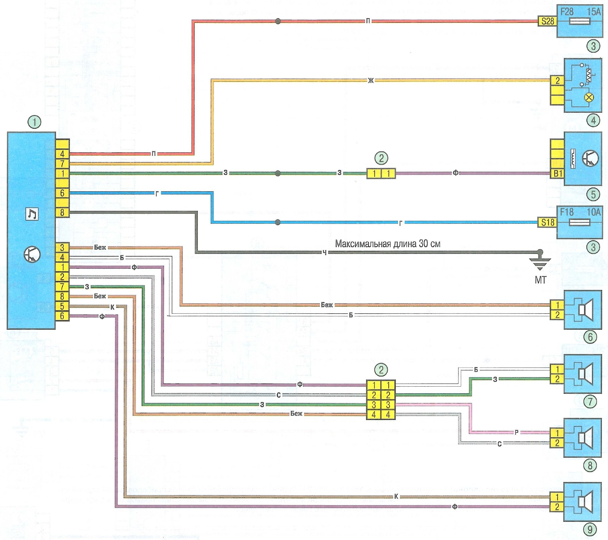 hyundai h-cmd4006 схема подключения с картинками