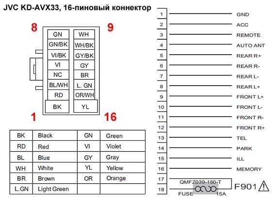 Схема подключения автомагнитолы пионер deh фото 27
