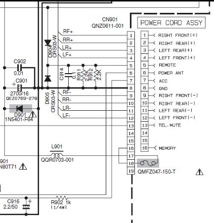 Схема подключения автомагнитолы jvc