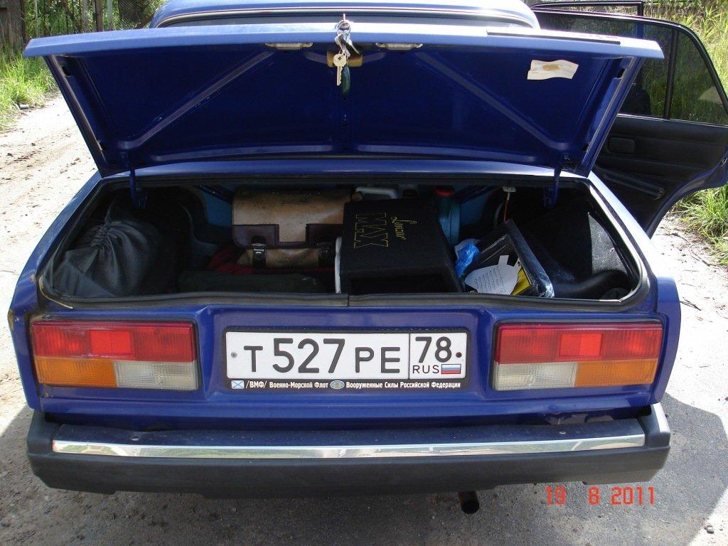 Сабвуфер ваз 2107 в багажнике