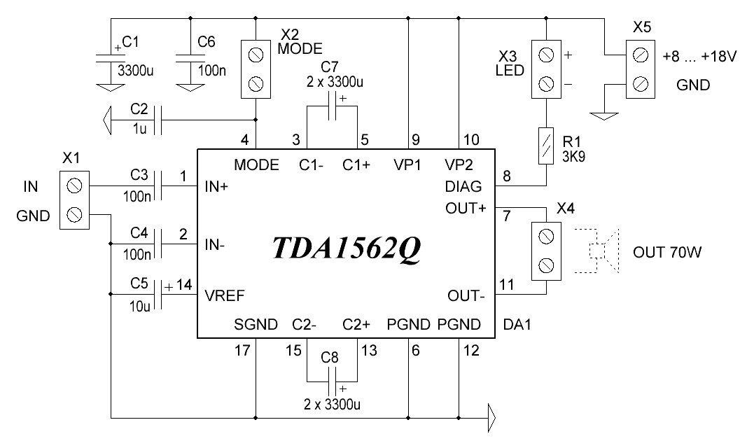 Схема микросхемы TDA