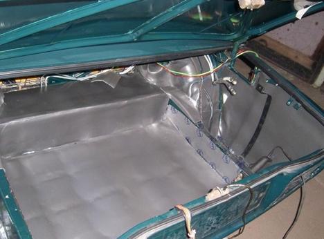 Шумоизоляция багажника «семерки»