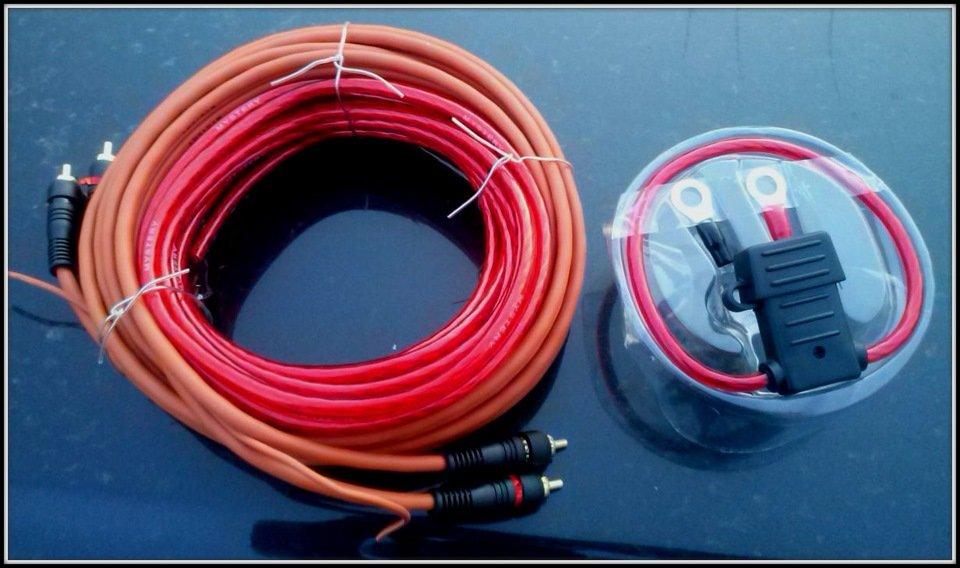 Провода для установки сабвуфера с усилителем