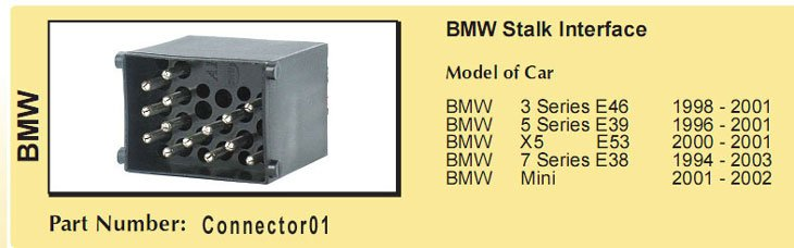 Распиновка разъёмов в автомагнитолах bmw