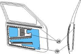 Схема установки материалов на двери