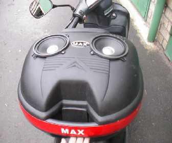 Как выглядит акустика на скутере