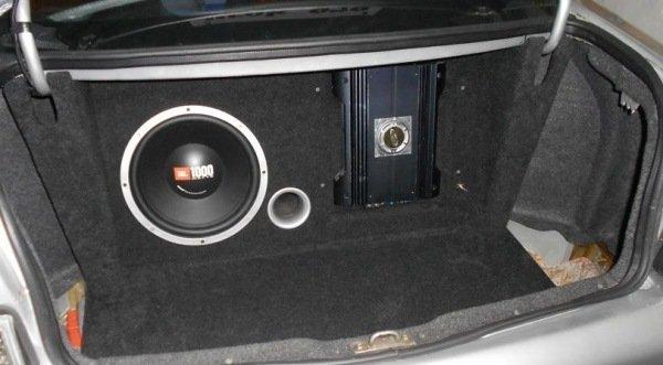 Сабвуфер в багажнике ваз 2110