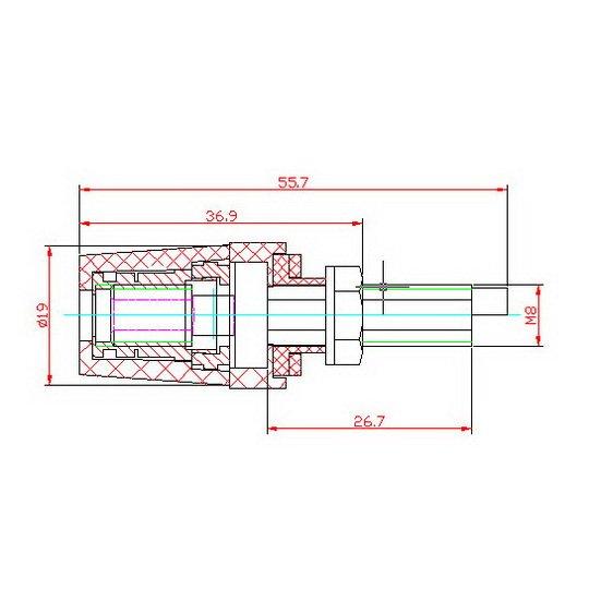 Схема размеров Аудиокор LC0520AL