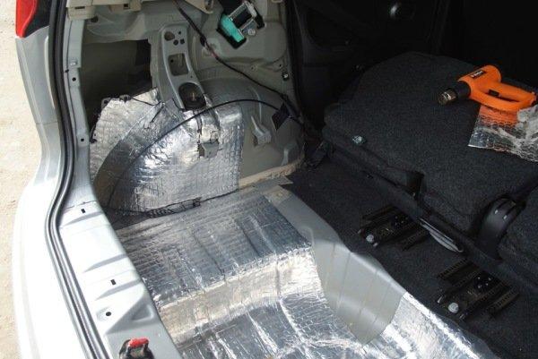 Note Nissan шумоизоляция