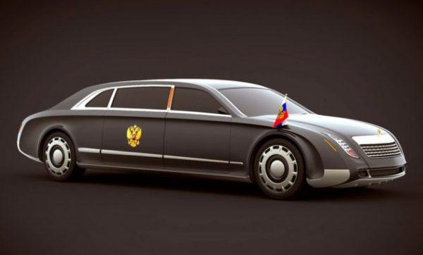 Машина Путина на инаугурации 2018