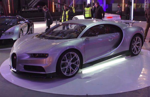 Bugatti Chiron на автосалоне в Женеве