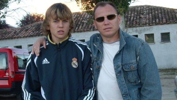 Юный Денис Черышев с отцом