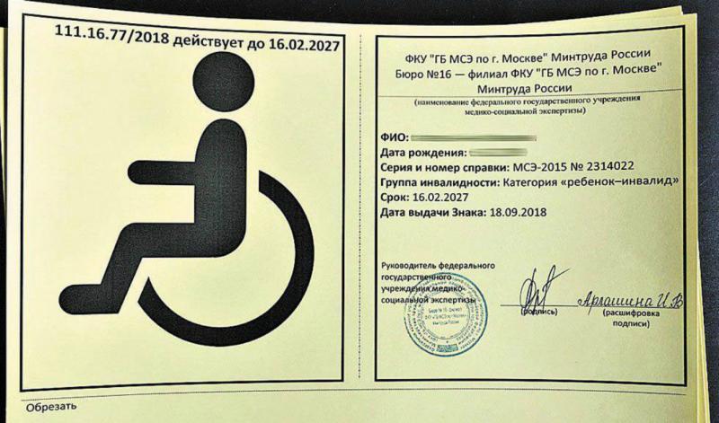 В России начали выдавать новые знаки для перевозящих инвалидов автомобилей