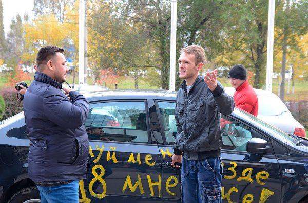 Автомобильный флешмоб в честь Сергея Жукова
