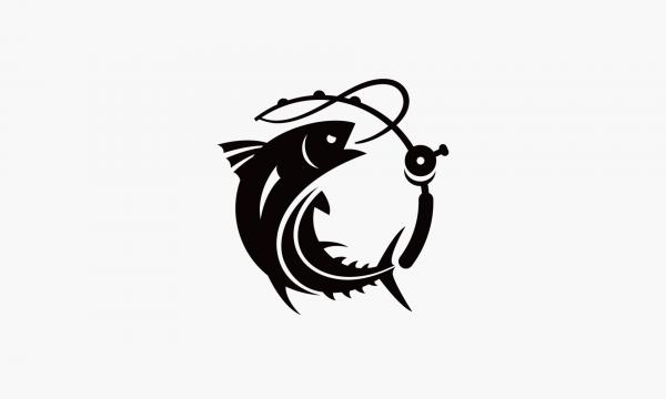 Знак рыбы с удочкой