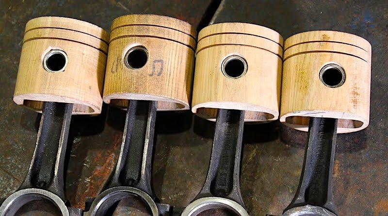 Может ли двигатель внутреннего сгорания работать с деревянными поршнями